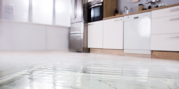flooding kitchen floor